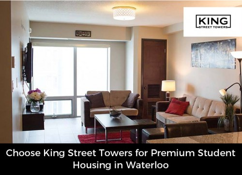 Looking for premium student housing in Waterloo? Just visit King Street Towers. We offer University students 3, 4, and 5 bedroom apartments to provide them with the utmost in comfort and security.